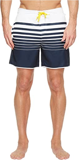 Engineered Stripe Fixed Volley Swim Trunk