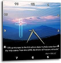 3dRose Christian – Inspirational Psalm-Wall Clock, 13-inch (DPP_218867_2)