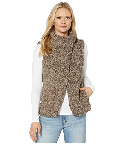 Dylan by True Grit Faux-Shearling Pile Cozy Vest with Soft Knit Lining (Mocha) Women