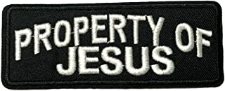Property of Jesus Patch Inspiration Saying Text Words Logo Series Embroidered Iron on/Sew on Badge DIY Appliques Application