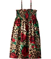 Dolce & Gabbana Kids - D&G Leo Swimsuit Cover-Up Dress (Big Kids)