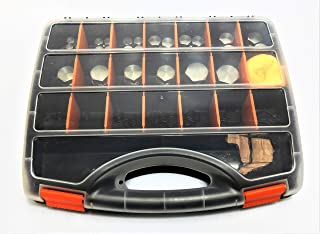 JIC Cap and Plug Kit 91 Piece 7 sizes dash 4 5 6 8 10 12 16 UNO threads 37 flare fittings 7/16, ½, 9/16, ¾, 7/8, 1-1/16, 1-5/16 bonus O Rings and Oil Cloth in Strong Plastic Case Adjustable Partitions