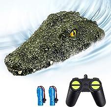EACHINE EB01 RC Juguetes para Niños Barco de Control Remoto Teledirigido Alta Velocidad 2.4G 15km/h 30 mins Simulación Crocodile Regalos Juguetes para Niños Adultos(2 Baterías)