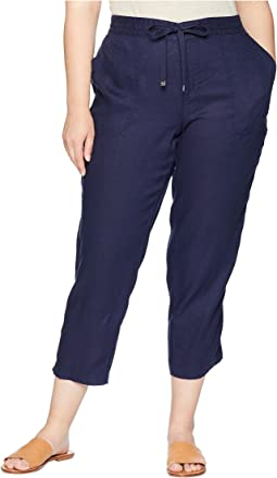 Plus Size Straight Linen Pants