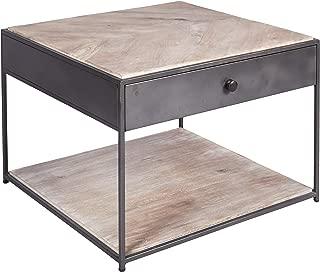 Better & Best 0567013 Mesa cuadrada baja de hierro y madera con 1 ...