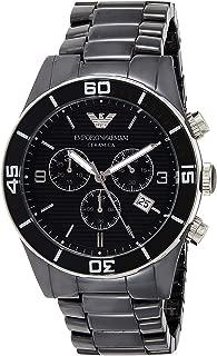 Emporio Armani Mens Quartz Watch, Analog Display and Ceramic Strap AR1421