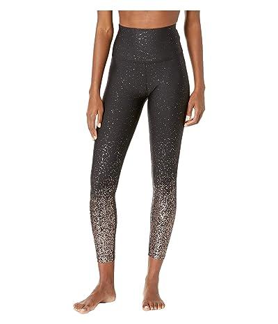 Beyond Yoga Alloy Ombre High-Waisted Midi Leggings (Black Gunmental Speckle) Women
