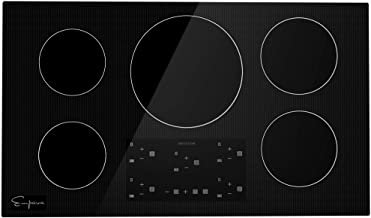 Empava 36 Inch Electric Stove Induction Cooktop with 5 Power Boost Burners Smooth Surface..