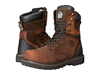 Georgia Boot Brookville 8 Steel Toe Waterproof (Dark Brown) Men