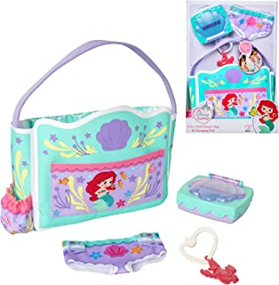 My Disney Nursery Baby Doll Accessories, Ariel Transforming 2-in-1 Diaper Bag & Changing Pad for Dolls Inspired by Disney ...