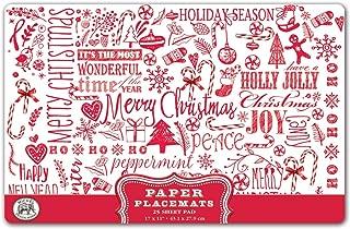 Michel Design Works 25 Count Paper Placemats, Ho Ho Ho