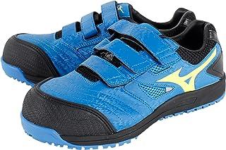 ミズノ 安全靴 プロテクティブスニーカー C1GA1801 オールマイティFF ベルトタイプ Color:27ブルー×イエロー×ブラック 26.5