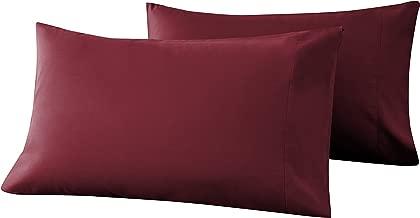 Goza Bedding Microfiber Pillow Cases 2 Pack (Burgundy, King)