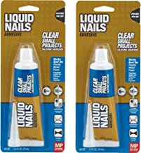 Liquid Nails LN-207 Silicone Sealant, 2.5 oz, Carded, Clear, Paste 2 Pack