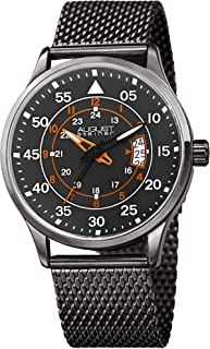 August Steiner Watch Analogue Display and Stainless Steel Strap