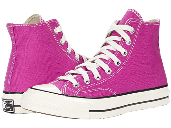 Vintage Sneakers, Retro Designs for Women Converse Chuck 70 Organic Canvas Hi Cactus FlowerBlackEgret Athletic Shoes $84.95 AT vintagedancer.com