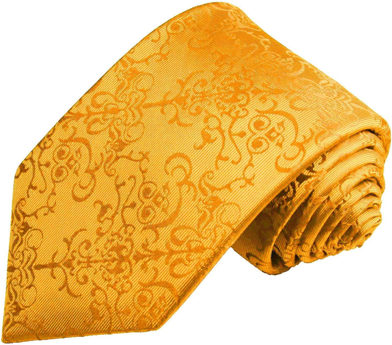 Golden Glow Silk Tie Set by Paul Malone