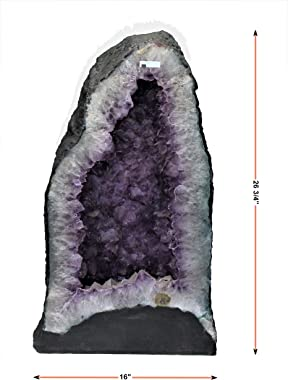 """DMS Store Amethyst Crystal Geode Stone from Brazil R.0610 (Dimensions: 26.75"""" x 16"""" x 11"""", 150.15 lbs)"""