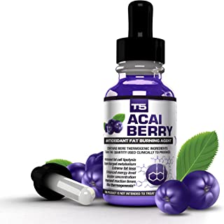 T5 Fat Burners Acai Berry Diet Drops : Maximum Strength Antioxidant Fat Burner - Fast Acting Weight Loss & Detox (1 Month ...