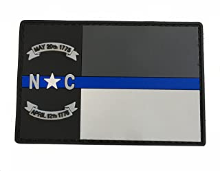 Stevens Tactical Shop Subdued Thin Blue Line North Carolina State Flag PVC Patch