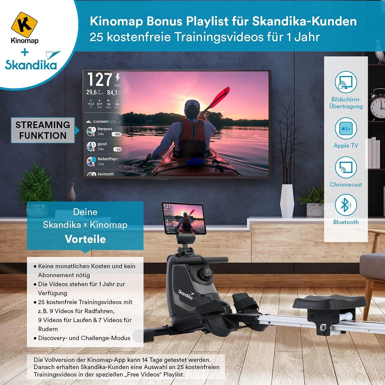 Skandika Venn Rudergerät mit Kinomap App