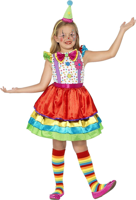 Kinder-Mädchen Deluxe Clown Kostüm Zirkus Outfit Neu von Smiffys