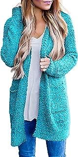 Ru Sweet Women's Long Sleeve Soft Chunky Knit Sweater Open Front Cardigan Outwear with Pockets