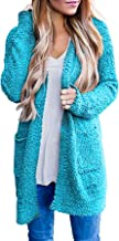 Ru Sweet Women's Long Sleeve Soft Chunky Knit Sweater Open Front Cardigan Outwear with Pockets