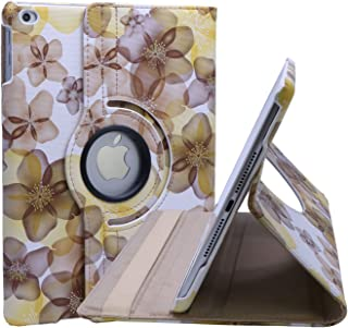 Ipad9.7 case compatible with apple ipad 9.7 inch New 2018 / 2017 ipad air 1 2 Folio Cover 5 6 5th 6th Generation 5gen 6gen Women Floral Flower Model a1822 a1823 a1893 a1954 kickstand girl (Yellow)