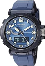 Casio Men's Pro Trek Stainless Steel Quartz Watch with Silicone Strap, Black, 23.5 (Model: PRW-6600Y-2CR)