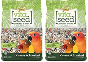 Higgins 2 Pack of Vita Seed Natural Blend Conure and Lovebird Food, 5 Pounds Each
