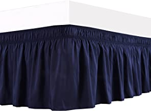 king size navy blue bed skirt