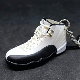 Air Jordan XII 12 Retro Taxi White Black Gold OG Sneakers Shoes 3D Keychain Figure