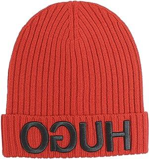 3e80a13dfa8 Hugo Boss Men s Men-X-537 Reverse Logo Wool Beanie Hat (One Size