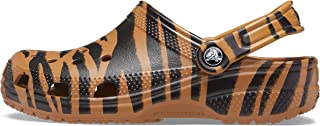 CROCS Shoes - Classic Animal Print Clog - Dark Gold Zebra Print