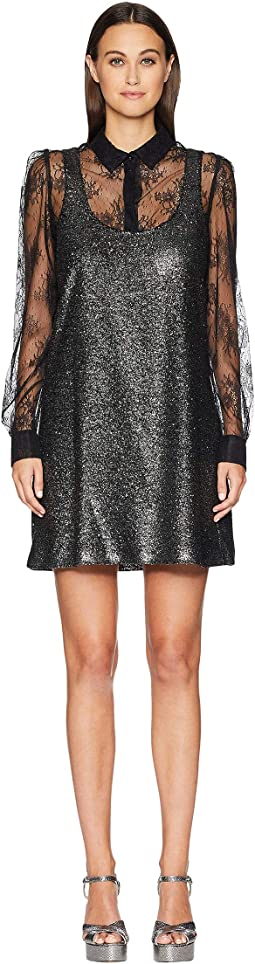 Sparkle Dress with Lace Undershirt