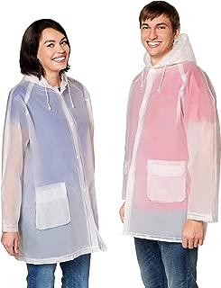 Rain Poncho Men's Women's Raincoat Jacket Ventilation anti odor Two Pockets & Hood Stay Dry in the Rain