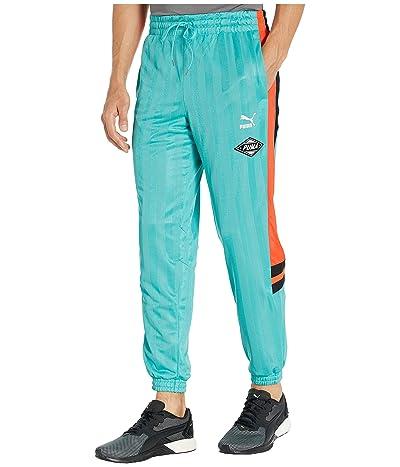 PUMA LuXTG Luxe Woven Pants (Blue Turquoise) Men