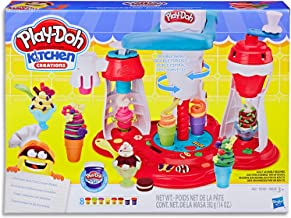Play-Doh - Kitchen Creations - Ultimate Swirl Ice Cream Maker Playset - Inc 17 Acc and 8 Tubs of Dough - Creative Kids Toys - Ages 3+