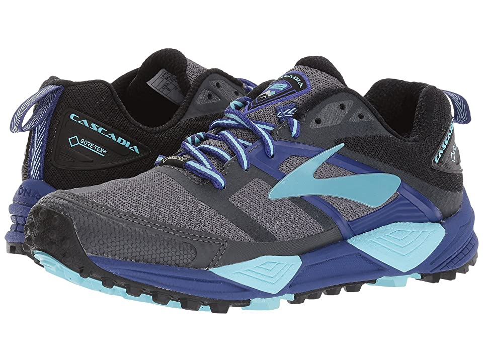 Brooks Cascadia 12 GTX(r) (Black/Ebony/Clematis Blue) Women
