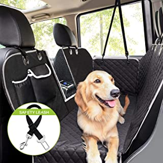Pecute Dog Seat Cover Car Seat Cover for Pets 100% Waterproof Pet Seat Cover Hammock 600D Heavy Duty Scratch Proof Nonslip Durable Soft Pet Back Seat Covers for Cars Trucks and SUVs