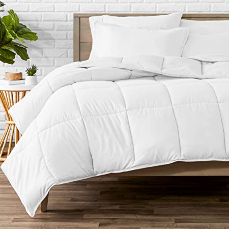 Bare Home Comforter Set - Twin/Twin Extra Long - Goose Down Alternative - Ultra-Soft - Premium 1800 Series - All Season Warmth (Twin/Twin XL, White)