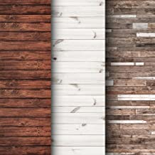 Premium Background Paper for Photography - 3 Pack - 4x12 Foot Rolls - Seamless Designs - Perfect Shiplap Photography Backdrops for Baby Pictures, Headshots, and More
