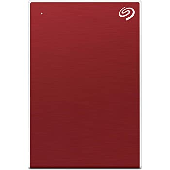 Seagate Backup Plus Slim 1TB External Hard Drive Portable HDD – Red USB 3.0 for PC Laptop and Mac, 1 Year Mylio Create, 4 Months Adobe CC Photography, and 3-Year Rescue Services (STHN1000403)