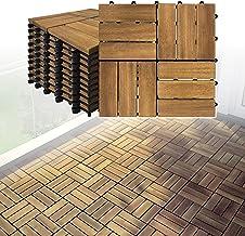 LARS360 Houten tegels, vloertegels, terrastegels, balkontegels, vloerbedekking met kliksysteem en drainage, acaciahout, te...