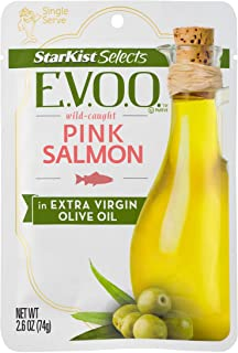 StarKist Selects E.V.O.O. Wild-Caught Pink Salmon – 2.6oz Pouch (Pack of 12)