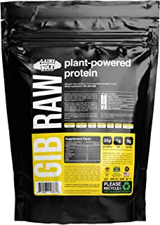 Gains in Bulk, GIB Raw, Plant Powered Protein, Vegan Protein, 2.6 lbs