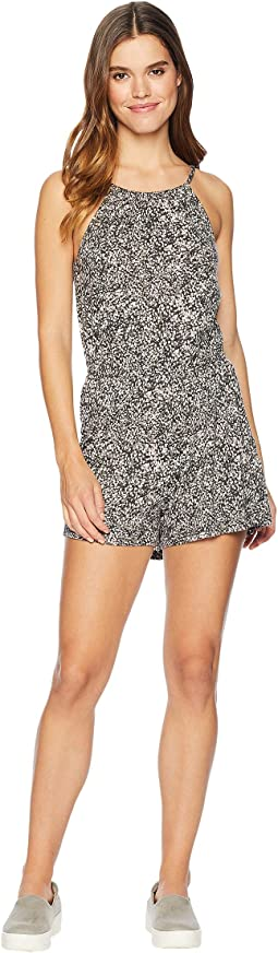 Filed Printed Romper