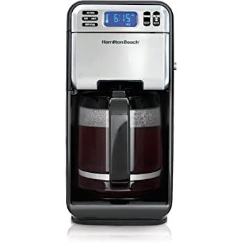 Hamilton Beach 12-Cup Digital Coffee Maker, Stainless Steel (46201) (Discontinued Model),Black