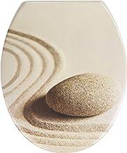 WENKO 20908100 WC-bril Sand and Stone Easy Close - met automatische sluiting, kunststof - Duroplast, 37,5 x 44,5 cm, meerk...